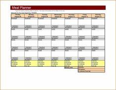 weekly meal planner template word
