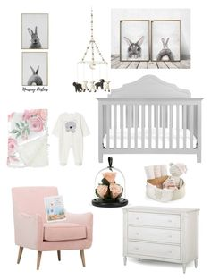Baby room by matinapapadopoulou on Polyvore featuring polyvore, interior, interiors, interior design, home, home decor, interior decorating, P'Kolino, Baby Aspen, Petit Pehr and Jellycat