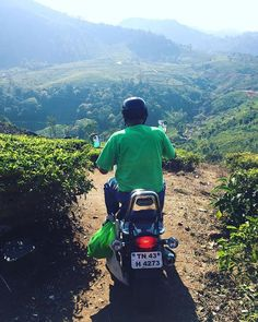 Ever been picked up by your Airbnb host with a motorcycle? #teafields