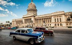 El Capitolio de la Habana - Cuba  O Edifício do Capitólio Nacional, em Havana, foi a sede do governo de Cuba após a Revolução Cubana em 1959, e atualmente é a sede da Academia Cubana de Ciências. O seu desenho foi inspirado no Capitólio dos Estados Unidos em Washington, DC.