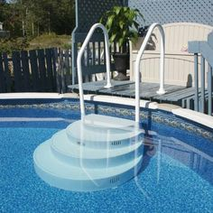 above ground pool stairs - Above Ground Pool Steps For Decks