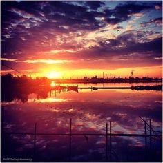 Spettacoli naturali. La #PicOfTheDay #turismoer di oggi ammira le mille sfumature del #tramonto sul Porto di #Ravenna. Complimenti e grazie a @sereaugy /  Natural shows.  Today's #PicOfTheDay #turismoer admires the thousand shades of #sunset over #Ravenna's Port. Congrats and thanks to @sereaugy