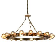This gorgeous iron frame chandelier adds contemporary charm to any room. Wow your guests or customers with this completely unique piece. Its understated, geometric design lends elegance to this fixture. The warm sheen of the frame reflects light beautifully and instantly captures attention.