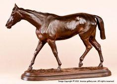 original 19th century bronze Race Horse Kincsem by Isidore Bonheur