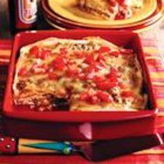 Smothered Mexican Lasagna