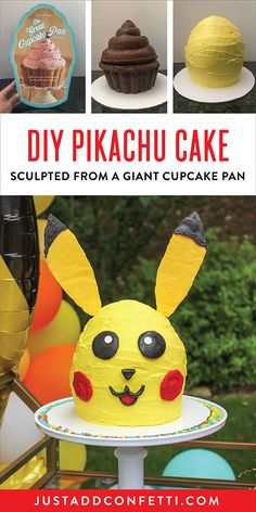 Pikachu is one of our favorite Pokemon pals in our house so I wasn't surprised when my son asked for a Pikachu cake for his Pokemon birthday party. I sculpted this DIY Pikachu Cake from a giant cupcake pan and it worked really well! I've created a full step-by-step tutorial so you can this Pokemon cake too!