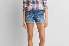 AEO Denim Midi Short  by  American Eagle Outfitters | The perfect balance of coverage and fit makes these go-to shorts effortlessly versatile.  Shop the AEO Denim Midi Short  and check out more at AE.com.