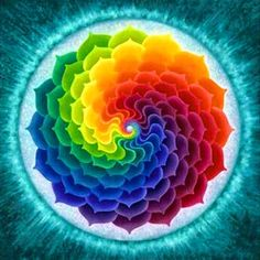 This is a Vivid Mandala. It may look like just some pretty colours but encoded within Mandalas / Scared Geometry / Sacred Art are the blueprints to the universe. 5d Diamond Painting, Over The Rainbow, Rainbow Swirl, Rainbow Quilt, Fractal Art, Sacred Geometry, Rainbow Colors, All The Colors, Zentangles