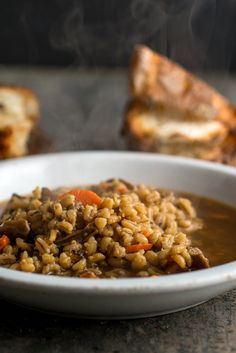 NYT Cooking: Soup made without meat or meat broth can be insipid. That's why most people think pea soup needs ham and mushroom-barley soup needs beef. But it's possible to make a satisfying, even hearty, vegetarian soup if you choose your ingredients carefully and extract every bit of flavor from them. Enter this mushroom-barley soup, a vegetarian dish with real body, texture and depth...
