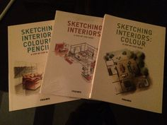 Finally, I have found my most loving interior sketching tool books collection ❤️