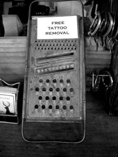 Free Tattoo Removal - haha, oh my love of tattoos.