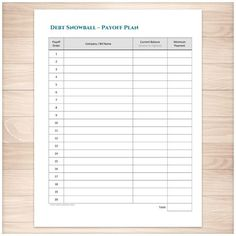 7 free printable budgeting worksheets | Debt snowball worksheet and ...