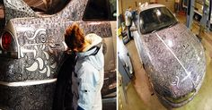 He Asked His Wife To Cover Up A Couple Of Scratches On His Car And She Creates This…