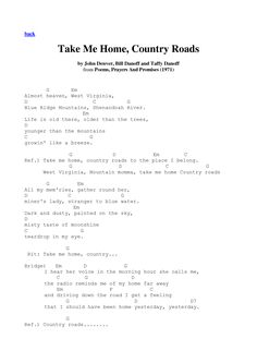 Take Me Home, Country Roads - John Denver