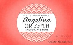 Address Label Sticker, Personalized Mailing Label, Gift Sticker - Double Chevron. $6.25, via Etsy.