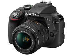 Cámara reflex Nikon D3300 Negro 24.2MP AFS DX18-55G NO VR +Estuche+Libro+Trípode - 480,45€