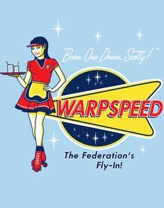 Warpspeed Federation Fly In by ninjaink #startrek
