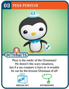 Here are the Octonauts Crew Cards and Vehicle cards I printed out and laminated to use at the Octonauts birthday party!