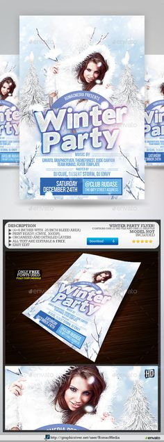 Winter Flyer Flyer template, Party flyer and Template