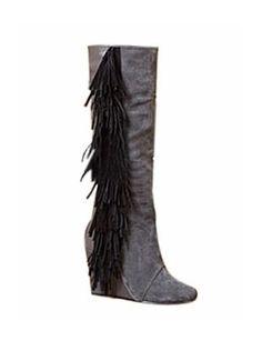 ELLA Leather Suede Fringed Boots @Gail Regan Truax://www.shopjessicabuurman.com