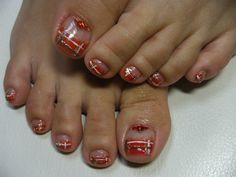 Cute nail design for Christmas