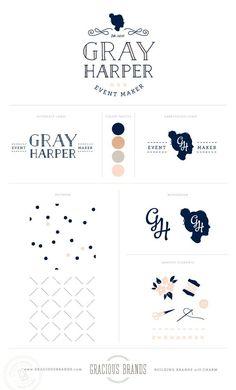 Logo + Brand Design for wedding event designer, Gray Harper - Event Maker Branding by www.GraciousBrands.com