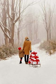 A sled full of gifts!