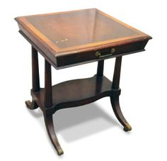 Antique wooden side table with Duncan Phyfe legs