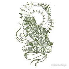 wisdom owl tattoo shirt