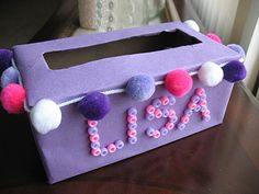 Tissue Box Valentine Holder