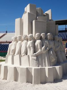 Florida Travel: Space Coast Art of Sand - it's amazing what they can create - Daily Commute, by Thomas Koet and Jill Harris of Melbourne FL, 2011 Art of Sand exhibits in Viera Florida - http://www.artofsand.org/