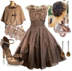 Beautiful in Brown, created by brandy-shoup on Polyvore