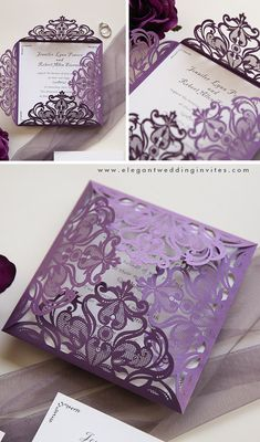 The whimsical purple colors become a big trend for 2021 weddings and wedding invitations