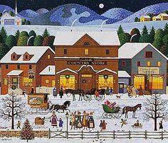 """""""Christmas Eve"""" ~ a 1000 piece jigsaw puzzle ~ Charles Wysocki"""