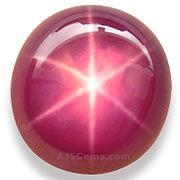 Star Ruby is a type of  Ruby that exhibits a star-like phenomenon known as asterism.