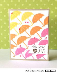 Hero Arts Cardmaking Idea: Showered with Love