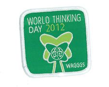 Girl Guide Scout Brownie BADGE PATCH – new! ~ WAGGGS 2012 Thinking Day 1.5""