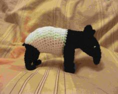 Andre the Tapir. Pattern for an amigurami Tapir by DinbychCrafts