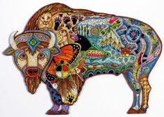 Bison Wooden Jigsaw Puzzle - Bison Puzzles - Liberty Puzzles