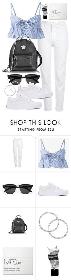 """Untitled #21473"" by florencia95 ❤ liked on Polyvore featuring Topshop, Maryam Nassir Zadeh, Yves Saint Laurent, Vans, Versace, NARS Cosmetics and Aesop"