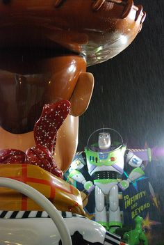 A Toy Story duel in the rain (At the All Star Movies Resort at wdw)