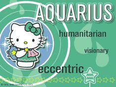 Hello Kitty Animated Zodiac –Aquarius