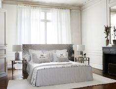 habitación blanca y plateada
