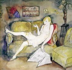 Jeanne Mammen (1890-1976), ca. 1931, La Garçonne. #WeimarCulture #WeimarRepublic