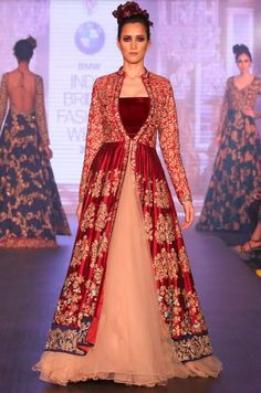 Indian Wedding Dresses | Red gold, Gowns and Designers