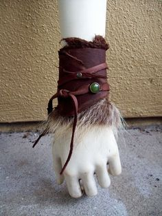 Wildwood Fur Cuff tribal fusion belly by ArchaicLeatherworks Larp, Vikings, Medieval Costume, Tribal Fusion, Belly Dance, Costume Design, Creations, Geek Stuff, Jewelry Making