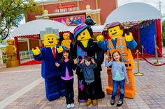 "The stars of ""The LEGO Movie 4D A New Adventure"" greet guests outside the theater after each showing of the fun new attraction."