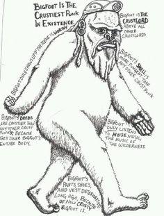 Lol - crust punk bigfoot