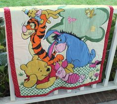 Lucas' room:  Winnie the Pooh Quilt for Baby or Toddler
