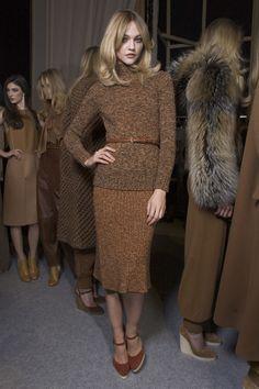 winter: Chloe, brown on brown, belted sweater. #teacherclothes #winter #officewear